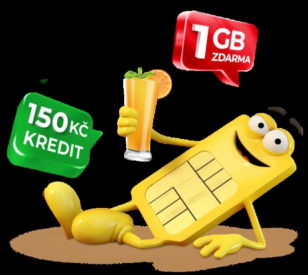 SIM za 75 Kč s kreditem 150 Kč a 1 GB za přenos čísla