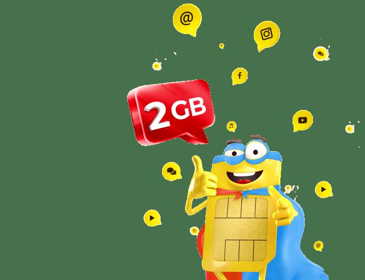 Nové datové balíčky 2 GB za cenu 1 GB!