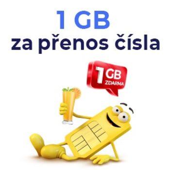 1 GB dat za převedení čísla k SAZKAmobilu od jiného operátora