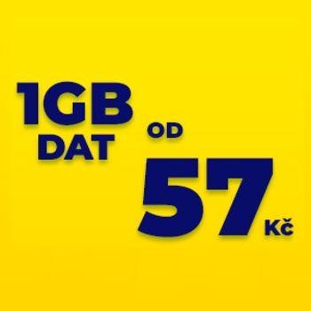 Datové balíčky 1 GB, 5 GB nebo 10 GB za speciální cenu