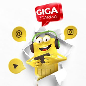 Odměna za aktivaci SIM karty 1 GB dat zdarma