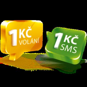 Volejte a posílejte SMS za 1 Kč